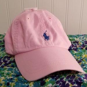 NWT Pink Polo Snapback O/S